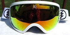 $180 Electric EG2.5 Mens Gloss White Ski Goggles Red Chrome Solex Fire Spy Lens