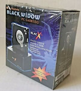 BLACK WIDOW Hard Drive eSATA & USB PC Gaming DOCKING STATION Thermaltake