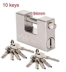 Most Secure Unbreakable Industrial Wide Padlock With Multiple Keys Outside Lock