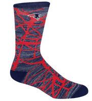 New England Patriots NFL For Bare Feet Fiber Soft Crew Socks SIZE LARGE