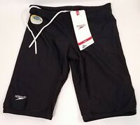 New Speedo Men's Xtra Life Lycra Solid Jammer Black Size 30 Swimwear