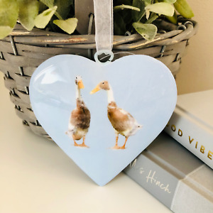Ducks Metal Hanging Heart Decoration - Country Kitchen, Home Decor