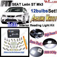 12 Bulbs Super White LED Interior Light Kit For Seat Leon ST FR MK3 ERROR FREE