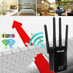 WiFi Range Extender Repeater Wireless Amplifier Router Signal Booster 4 Antennas