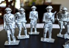 Vintage Gray Iron Lead Soldiers: Mixed Soldiers - Set 5