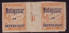 MADAGASCAR - TAXE N°3 - MILLESIME 6 - TRACE DE CHARNIERE.