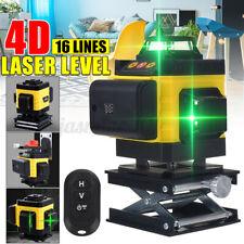 4D LASER LEVEL 16 LINE GRÜNES LICHT 360° LINIENLASER KREUZLINIENLASER LASERLINIE
