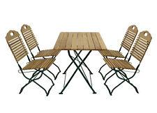Sitzgruppe Biergartenset Gartenmöbel Garnitur Set BAD TÖLZ Holz Stahl grün