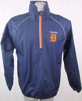 Detroit Tigers Men's 1/4 Zip Pullover Windbreaker Jacket Large MLB