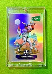 YORDAN ALVAREZ ROOKIE DOWNTOWN PRIZM CARD ASTROS SP RC 2020 Panini Diamond Kings