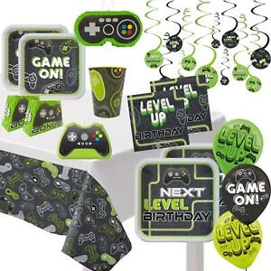 Level Up Gamer Kids Birthday Party Napkins Cups Favours  Decorations Tableware