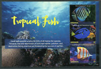 Grenada 2017 MNH Tropical Fish Discus 3v M/S I Fishes Marine Corals Stamps
