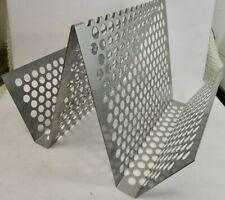 Vintage Blu Dot Industrial Modern Steel Magazine Rack Record Lp Holder