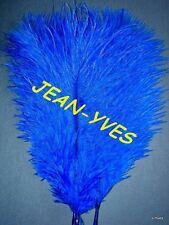"20 ROYAL BLUE OSTRICH FEATHERS 10-12""L GRADE *B*"