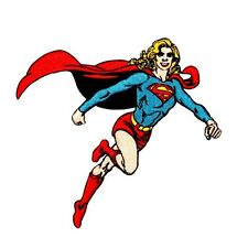 Supergirl to the Rescue Superman DC Comic Girl Superhero Iron-On Applique Patch