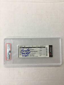 DODGERS TONY GONSOLIN SIGNED MLB DEBUT 6-26-19 TICKET STUB PSA/DNA SLABBED