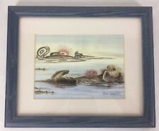 The URCHINS Sue Coleman Signed Sea Otters Of The Northern Pacific Watercolor