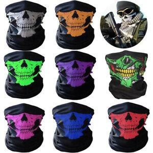 Skull Face Mask  Balaclava Scarf Neck Gaiter Fishing Biker Washable UV UPF40