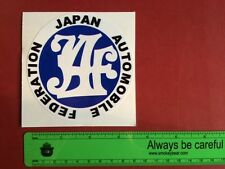 JAF Japanese Auto Federation  Vintage Automotive Performance stickers