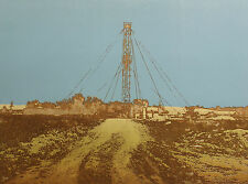 "Ted Thomas ""Wildcat #1"" Signed Numbered Etching oil drilling machines industry"