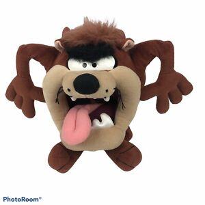"WARNER BROS Looney Tunes Taz Tasmanian Devil Plush Measures 20"" Care Tag faded"