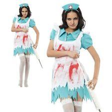 Sang Éclaboussé Femmes Infirmière Costume Halloween Zombie Horreur Déguisement