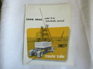 1955 Cook Brothers 76-B transfer trailer brochure