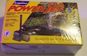 Laguna PowerJet 500 Waterfall and Fountain Pump Kit 214 GPH Power Jet NEW SEALED