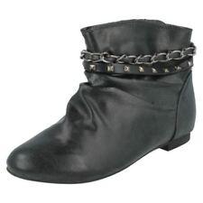 Chaussures noires en synthétique pour fille de 2 à 16 ans, pointure 37