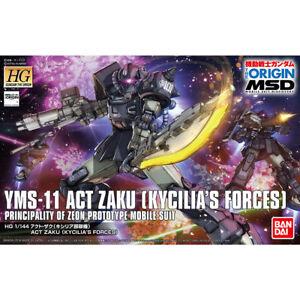 BANDAI HG 1/144 YMS-11 ACT ZAKU KYCILIA'S FORCES Model Kit Gundam THE ORIGIN NEW