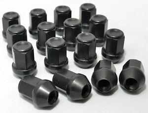 16 x Alloy Black Wheel Nuts for TOYOTA YARIS 12x1.50 34mm 19 Hex. D6B