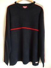 Vtg 90s Unionbay Navy Blue Red Striped Surf Skate Grunge Streetwear Sweater XL