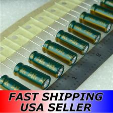 (Lot 10) 330uF 25V Yageo High Reliability Electrolytic Capacitors 105C USA Ship