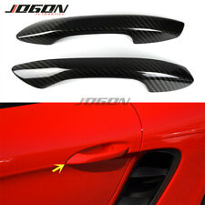 2pc Real Carbon Door Handle Cover Trim For Porsche 718 Boxster Cayman 2017- 2019