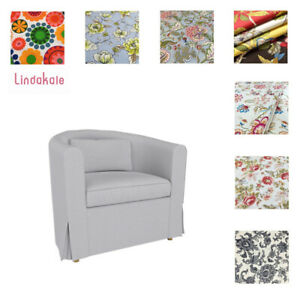 Custom Made Cover Fits IKEA Ektorp Tullsta Chair,  Patterned Replace Chair Cover