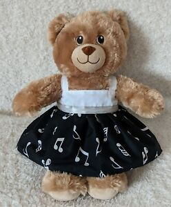 Handmade Black & White Musical notes print Dress for 15inch (Build a bear) size.