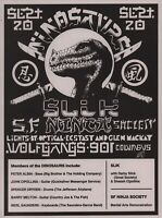 DINOSAURS 1988 TOUR ORIGINAL 1st PRINTING CONCERT FLYER / HANDBILL / NMT 2 MINT