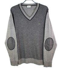 LACOSTE Men Pullover Cotton Wool V Neck Jumper Sweater Size 7 - XXL DZ364