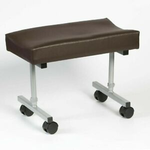 Drive DeVilbiss Leg Rest - Brown with wheels opened never used
