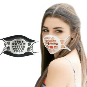 1/5/10 x 3D Maskenhalter Mund Nasen Masken waschbar Abstandshalter Atemhilfe