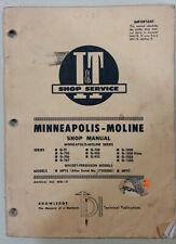 Minneapolis-Moline I&T Shop Service Manual No. Mm-19 covers G-series 1972