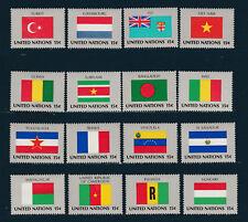 NATION UNIES  New York 1ère série des Drapeaux de 1980  neuf **
