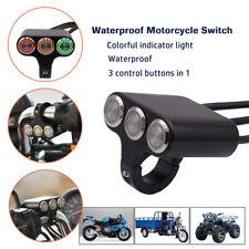 Waterproof Motorcycle Switches 22mm Handlebar Mount Headlight Brake Fog Light