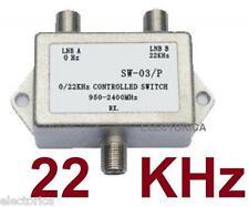 NEW 22KHZ 2X1 SATELLITE LNB MULTI-SWITCH FTA 22 Khz TONE / 22K BURST SW22  HD