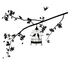 Birdcage + sofa tree background Removable Wall Stickers LW