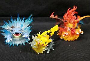 Pokemon Charizard Blastoise Pikachu Set 20th Anniversary Mini Figure 2016 Rare
