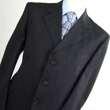Maenson Mens Grey Suit 44/40 Regular Single Breasted Wool Striped