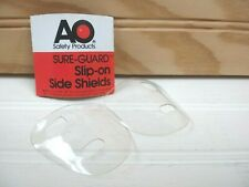Vintage AO Sure Guard Slip On Safety Glasses Side Shields Clear Plastic 60s NOS