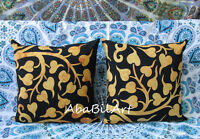 """2 Pcs Set Of 16"""" Small Indian Cushion Pillow Cover Tie Dye Room Decorative Throw"""