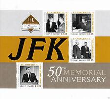 St Vincent Grenadines 2013 MNH John F Kennedy 50th Memorial Anniv I 4v M/S JFK